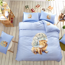 3d cartoon cat printing fashion dress china supplier bed design textiles children bedding set HIGH QUALITY printed duvets