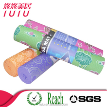 Eco-friendly non-slip soft Purple 4mm,5mm,6mm printed yoga mat