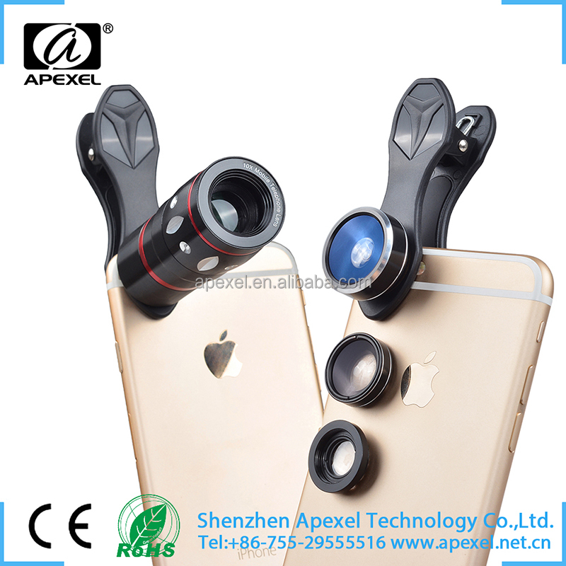 Phone accessories mobile multifunctional smartphone fish eye lens universal clip 4 in 1 lens