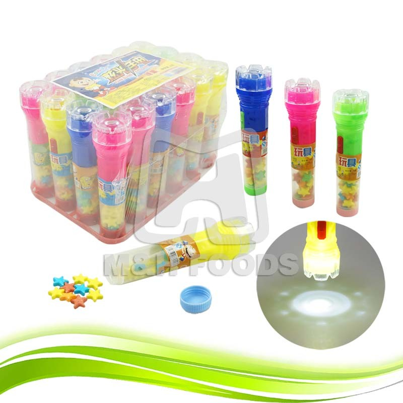 Projection Flashlight Lighting Toy With Candy Inside