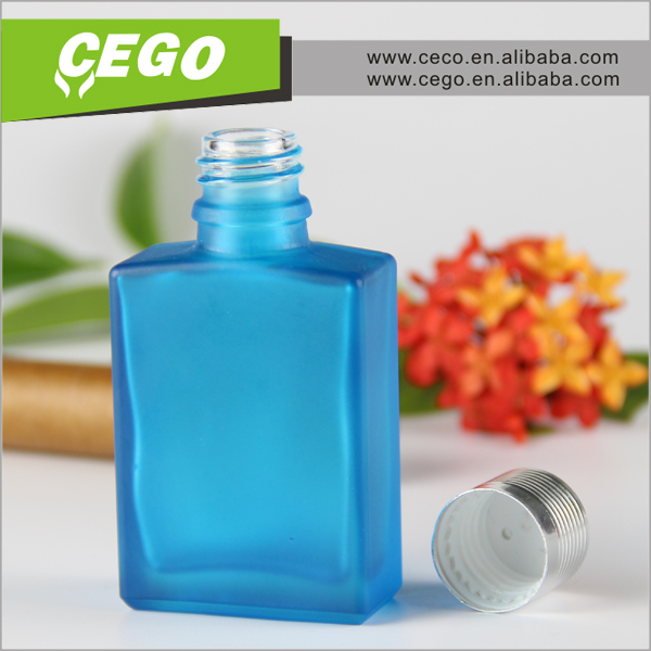 free sample flat square 30ml cosmetic glass pipette bottle with label and logo printing