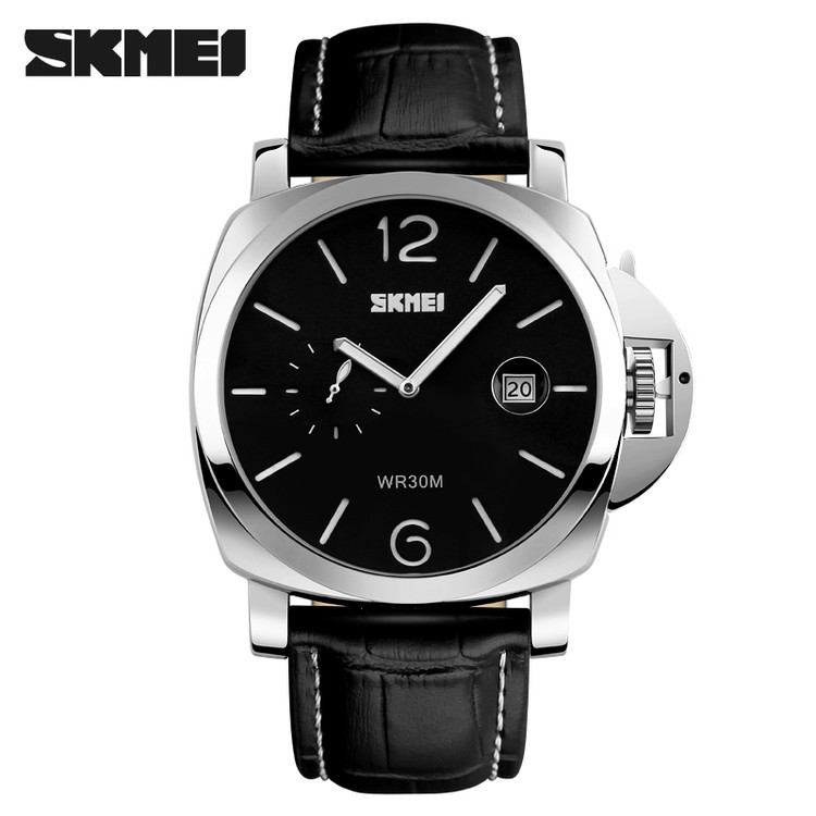 zinc alloy plating unique design safty buckle amazing leather band quartz wrist watch