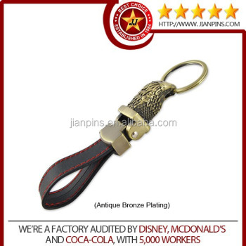 Promotion advertising souvenir usage leather animal keychain