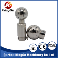 Stainless steel food grade beer tank cleaning clamped ball