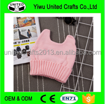 pink CAT EAR WINTER HAT FLEECE SKI SNOWBOARD ANIME COSPLAY BEANIE hat