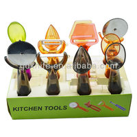 New design beautiful colorful plastic small kitchen utensils kitchen tools