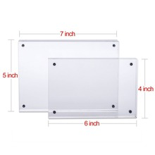 "Acrylic Picture Frame 5x7"" Double Sided Magnetic Photo Frames Frameless Desktop Display"
