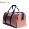 classic design genuine cow leather duffle bag travel weekend bag