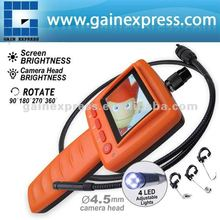 2.4 LCD Portable Video Inspection Endoscope 4.5mm Camera 1m Cable