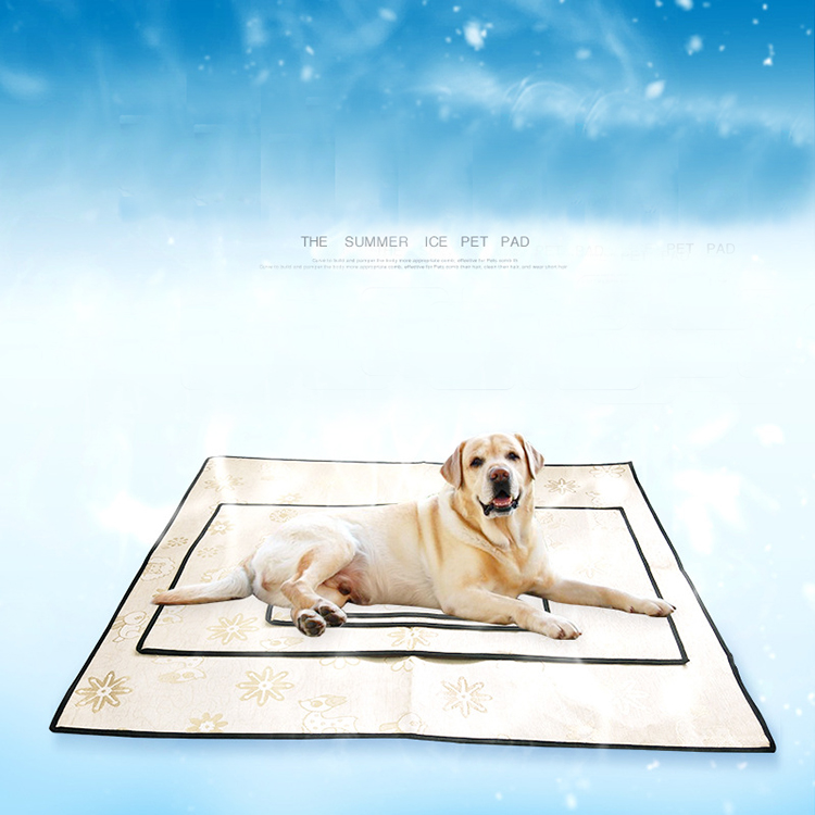 Pet product dog simple Ice silk cooling mat/pad