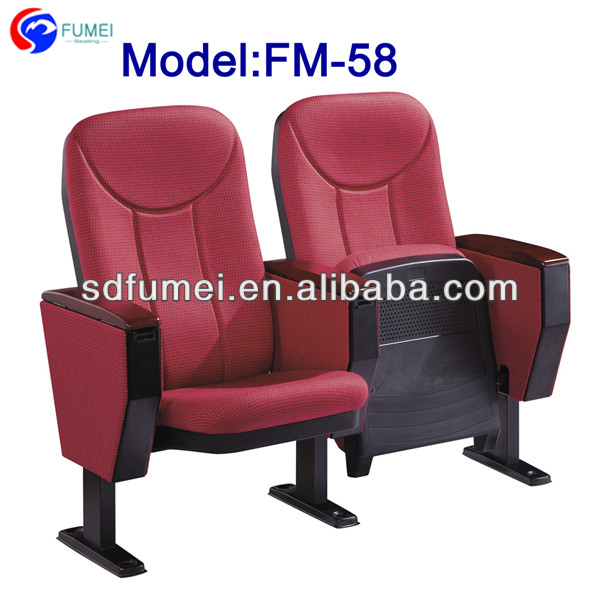 FM-58 Best price folding auditorium chair with writing table