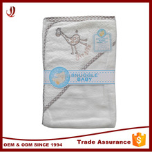 Hot Selling Plain Terry 100% Cotton Animal Baby Towel with Hood
