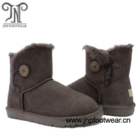 3352 chocolate sheep wool ankel boots women