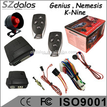 Genius/Nemisis One WayCar Alarm System Variable code Controls ultrasonic sensor,3 relay hot in Brazil Suriname,Uruguay chile