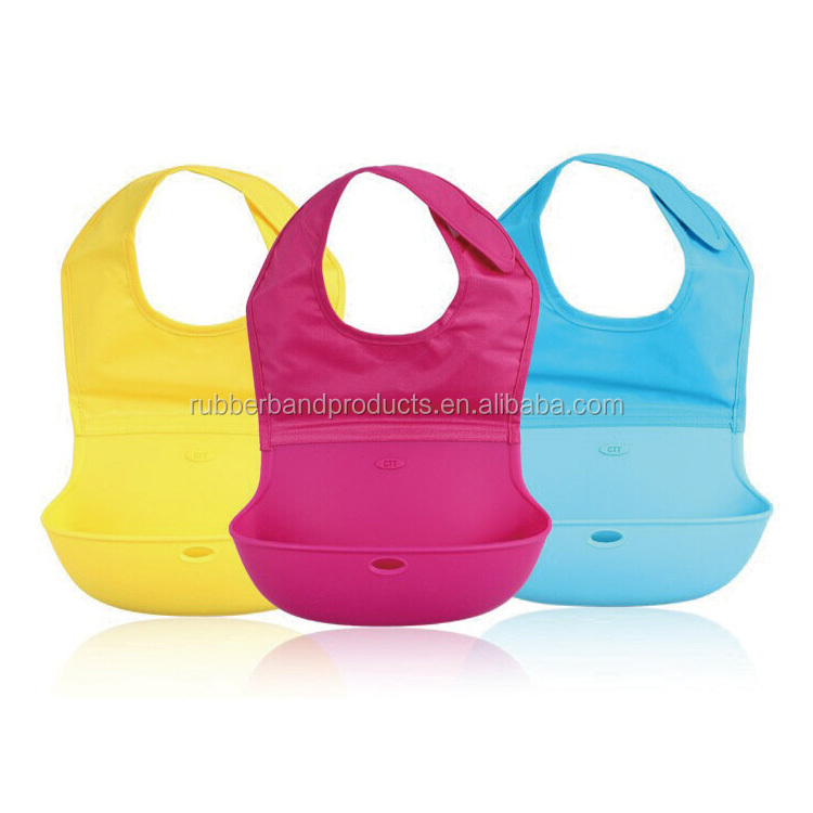 Wholesale Price Silicone Baby Bib Bandana, Waterproof Bib for Baby