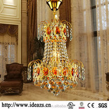 C9150 plastic crystal chandeliers, lobby crystal chandelier ,hanging led camping light