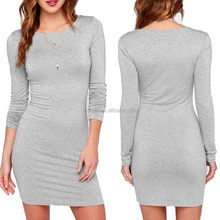 OEM One-piece Dresses Women Summer Autumn Sexy Casual dress Fashion Elegent Black Long Sleeve Sexy Mini Evening Dress