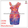 Hot selling new design wrap tight waist chiffon one shoulder dress patterns