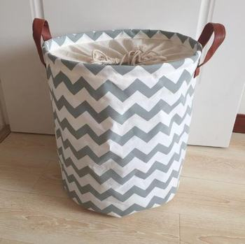 Cotton canvas large rounded laundry hamper laundry basket
