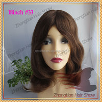 100% human hair Anna BOB style Wig Human Hair Kosher Short Blond