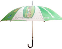"21"" Promotional Straight Cheapest advertising Umbrella J Shape Golf Umbrella"