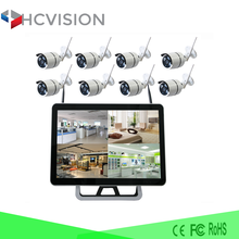 8ch 4ch NVR set 1080p outdoor wifi video camera 100m long distance wireless video camera transmitter