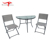 Balcony Terrace Outdoor Steel Sling Wall Mounted Coffee Table and Chairs