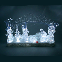 Transparent tree/Jesus LED Christmas decoration cheap nativity set