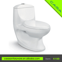 K19B Modern design white P-trap or S-trap clearly floor mounted french toilet