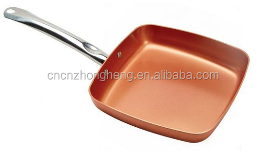 2016 Ceramic Copper 9.5 inches Ceramic Titanium ceramic square frying pan the color as seen on tv
