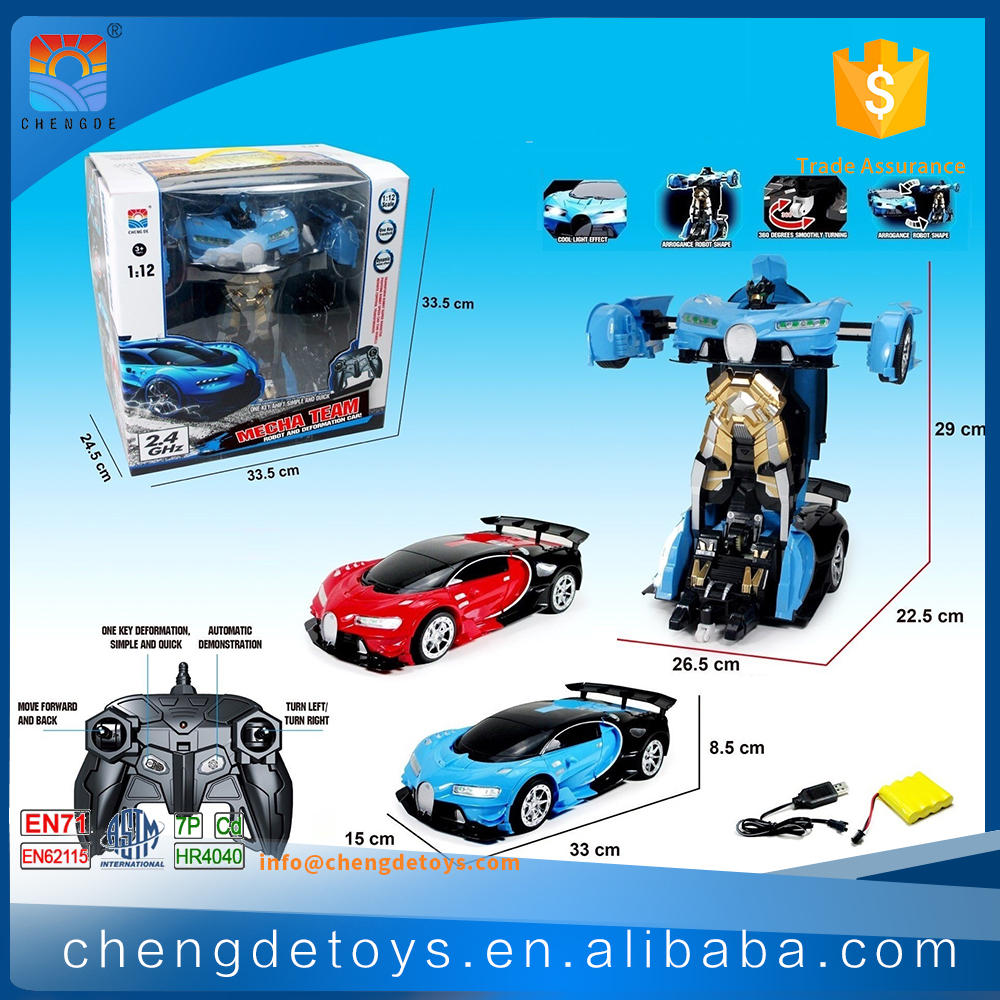 1:12 Trans Kids Robot Toys For 2017 Transform Car Tin Toys Robot With EN71
