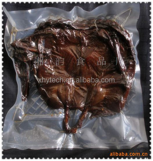 High temperature resistance clear PA vacuum cooking cooked frozen food Sausage packaging bags plastic food bag