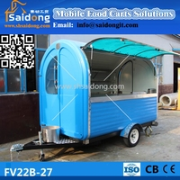 Stainless steel durable food cart-mobile food truck-fast food trailer for sale