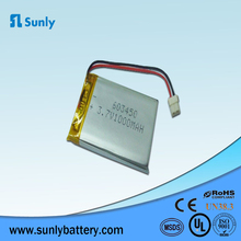 603450,li-ion battery 3.7v 1000mah for smart watch