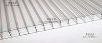 AOCI new materials polycarbonate 4-wall sun sheet for roofing