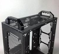 Billet aluminum carrying case for computer server with pull handle