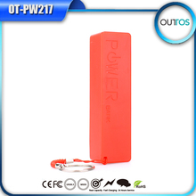 Hot selling build-in cable portable mobile phone battery charger power bank 2200mAh