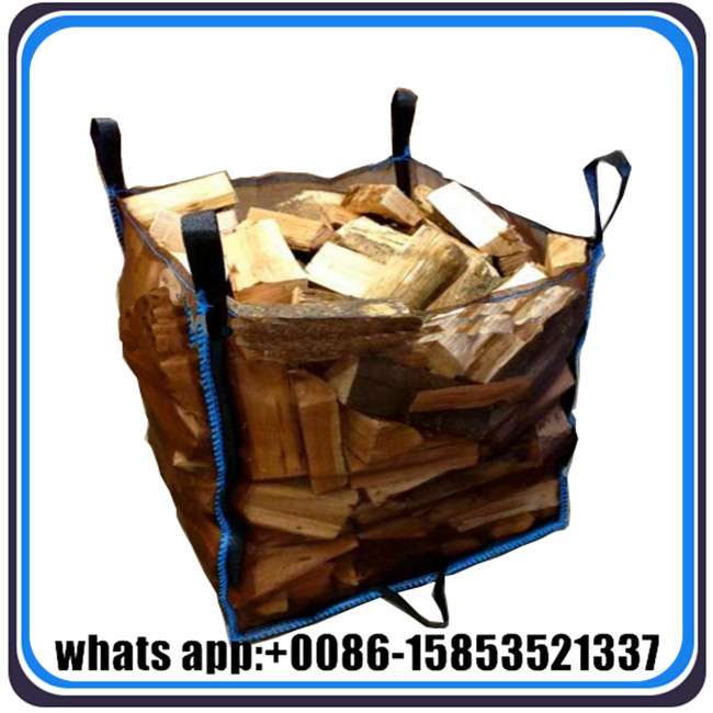 low cost mesh fibc big bag for firewood carrying