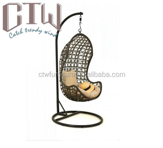 Hot sale furniture outdoor rattan swing egg chair