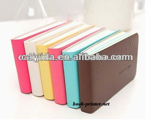 a5 fashion pu cover pocket personal diary notebook