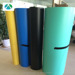 popular in india 1.5mm thick hard plastic colored pvc sheet with masking film for playwood