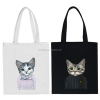 China Manufacturer wholesale custom cotton bag with cat pattern