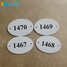 Plastic PVC Oval Imprinted Hotel Room Mailbox Number Sign