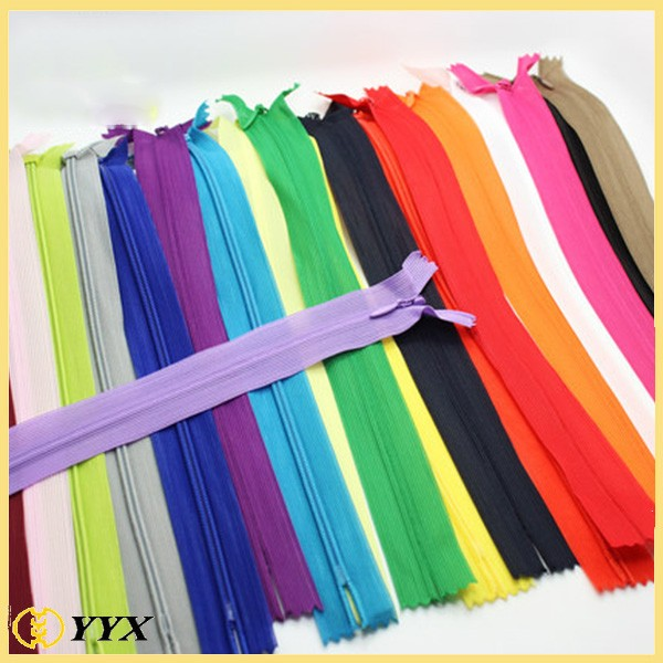 Stylish Ladies Uniform Nylon Invisible Lace Zippers for Long Skirts
