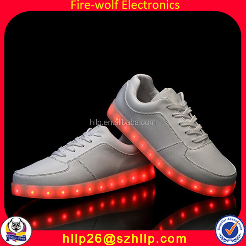 Wholesale Bar Club Party Event Clothes Decoration Lighting Sneakers Fashion Color Changing Shoes