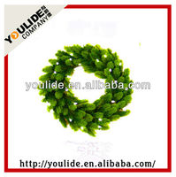 PE Christmas outdoor lighted wreaths