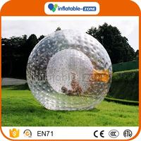 High quality inflatabe grass ball round grass giant inflatable ball crawl inside bumper ball