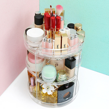 ANPHY C214-2 Clear Acrylic/PMMA/Plexiglass Rotating Makeup Display Holder,Rotating Display Holder