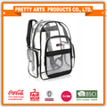 BSCI Factory Audit 4p Transparent PVC Multi-pockets School Backpack