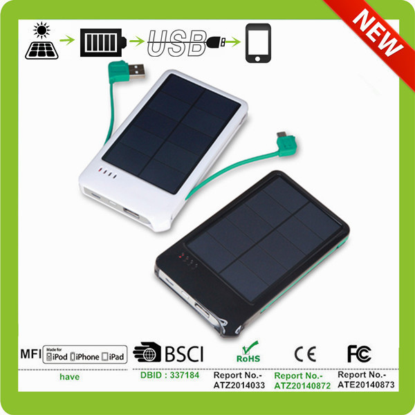 white pure color Smart Energy solar Chargers for mobile phone